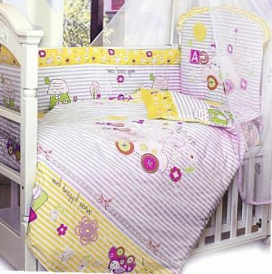 Постельный сет 7 предметов Золотой Гусь Cool Car (розовый) комплект в кроватку золотой гусь 7 пр cool car розовый