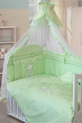 Постельный сет 7 предметов Золотой Гусь Сабина (зеленый) постельный сет 7 предметов золотой гусь сладкий сон зеленый
