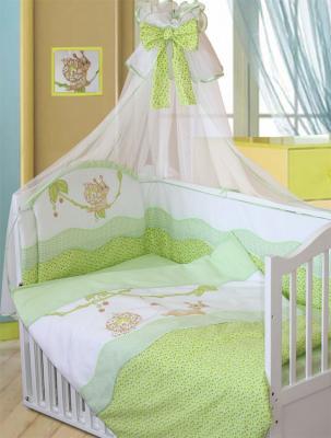 Постельный сет 7 предметов Золотой Гусь Улыбка (зеленый) постельный сет 7 предметов золотой гусь сладкий сон зеленый