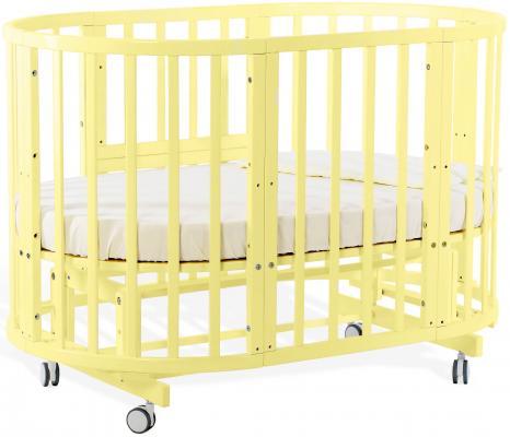 Купить Кровать-трансформер Nuovita Nido Magia (шартрез желтый), жёлтый, бук, Кроватки-трансформеры