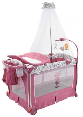 Купить Кровать-манеж Nuovita Fortezza (mauve), текстиль, пластик, металл, Детские манежи