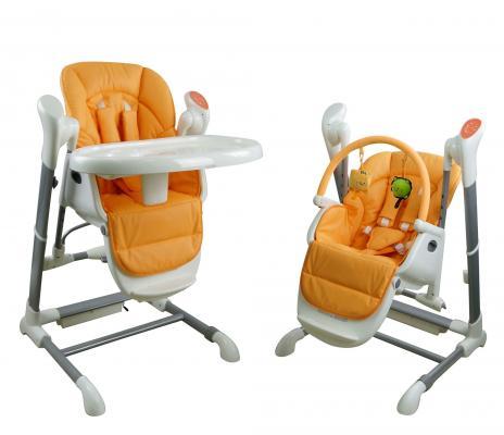 Купить Стульчик-качели Nuovita Unico (arancione), оранжевый, металл + пластик, Стульчики для кормления
