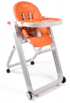 Купить Стульчик для кормления Nuovita Futuro Bianco (arancione), оранжевый, пластик, Стульчики для кормления