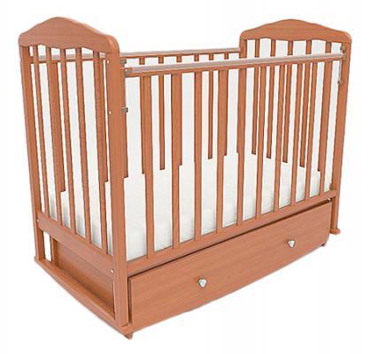 Кроватка с маятником СКВ Березка (орех/123007) кроватка скв березка 120119 бежевый