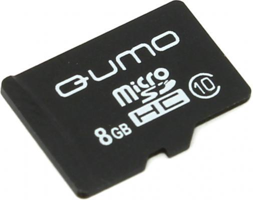 Карта памяти Micro SDHC 8Gb class 10 QUMO QM8GMICSDHC10NA