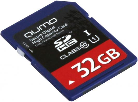 Карта памяти SDHC 32Gb class 10 QUMO QM32GSDHC10U1