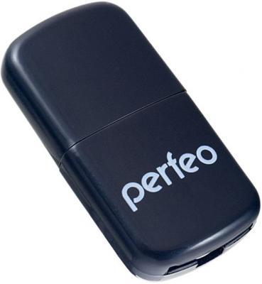 Картридер внешний Perfeo PF-VI-R009 Micro SD USB 2.0 черный