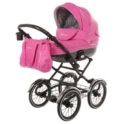 Коляска для новорожденного Mr Sandman Prima (100% кожа/розовый)