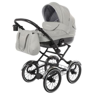 Купить Коляска для новорожденного Mr Sandman Prima (100% кожа/серый), Коляски для новорожденных