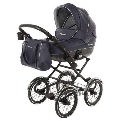 Коляска для новорожденного Mr Sandman Prima (100% кожа/темно-синий) автокресло mr sandman mr sandman автокресло little passenger isofix черный синий