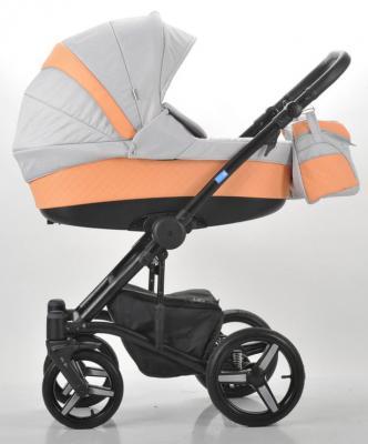 Коляска 2-в-1 Mr Sandman West-East Premium (50% кожа/персиковый перфорированный - серый/СН09) крестильная одежда лео комплект для девочки 0371 3 предмета
