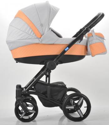 Коляска 3-в-1 Mr Sandman West-East Premium (50% кожа/персиковый перфорированный - серый/CH09) коляска mr sandman guardian 2 в 1 графит серый kmsg 043601
