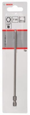 Бита Bosch TORX T15 XH 152мм 2607001666  бита torx t25 350 мм стандарт