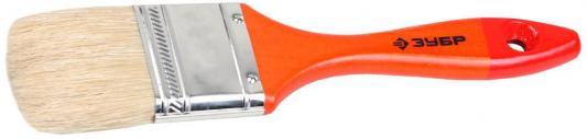 Кисть плоская Зубр Универсалл-Мастер натуральная щетина деревянная ручка 25мм 4-01003-025