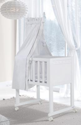 Колыбель с текстилем Micuna Spring (white)