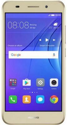 """Смартфон Huawei Y3 2017 золотистый 5"""" 8 Гб Wi-Fi GPS 3G CR0-U00"""