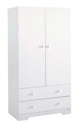 Купить Шкаф двустворчатый Micuna А-1805 (white), белый, МДФ / ДСП, Двухстворчатые