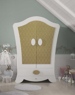 Шкаф двустворчатый Micuna Alexa (white/gold)
