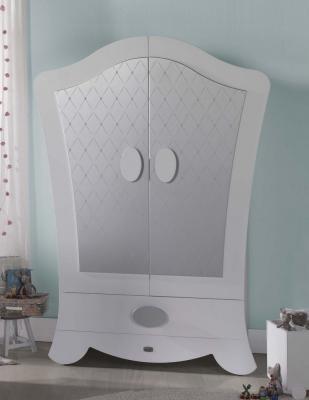 Шкаф двустворчатый Micuna Alexa (white/silver)