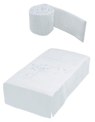 Купить Набор: покрывало+борт 120х60см Micuna Aura TX-700, белый, 120 х 60 см, Покрывала