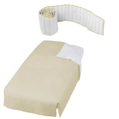 Набор: покрывало+борт 120х60см Micuna Mandala TX-1650 (white-beige)