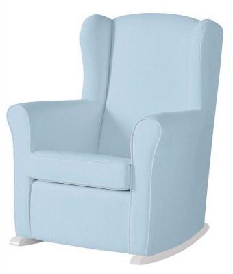 Кресло-качалка Micuna Wing Nanny (white/blue искусственная кожа) стул onlitop migel 161295 grey blue кресло качалка