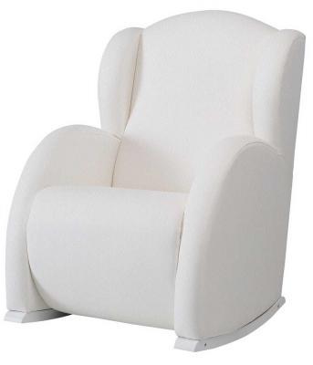 Кресло-качалка мини Micuna Wing Flor (white/white искусственная кожа)