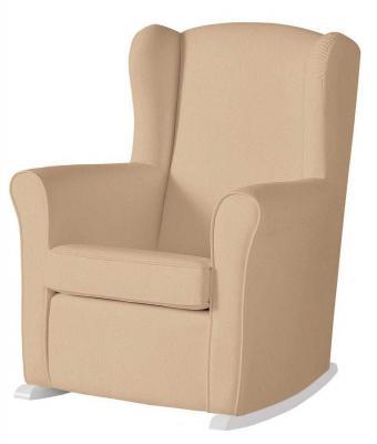Кресло-качалка мини Micuna Wing Nanny (white/beige искусственная кожа)