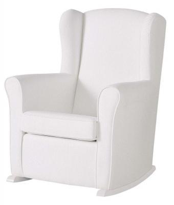 Кресло-качалка мини Micuna Wing Nanny (white/white искусственная кожа) кресло качалка micuna wing flor white кожаная обивка цвет обивки leatherette grey искусственная кожа