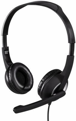 Гарнитура HAMA Essential HS 300 черный серебристый гарнитура hama hs 101 черный 53971 53999