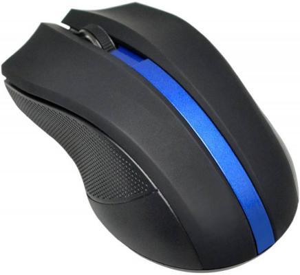 Мышь беспроводная Oklick 615MW чёрный синий USB