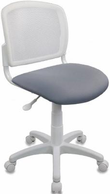 Кресло детское Бюрократ CH-W296NX/15-48 спинка сетка белый TW-15 сиденье серый 15-48 кресло для офиса бюрократ ch 299 g 15 48 спинка сетка серый сиденье серый 15 48
