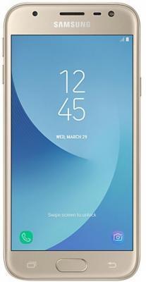 Смартфон Samsung Galaxy J3 2017 золотистый 5 16 Гб LTE Wi-Fi GPS 3G SM-J330FZDDSER мобильный телефон samsung sii s2 i9100 android 8 0mp 4 3 16 gb wi fi gps