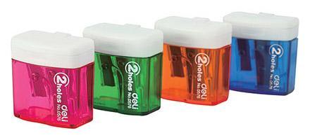 Точилка DELI E0576 пластик ассорти в ассортименте точилка index iws410 пластик ассорти двойная с контейнером с резиновой вставкой 2 цв в ассортименте