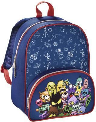Дошкольный рюкзак HAMA Monsters синий красный 00138028