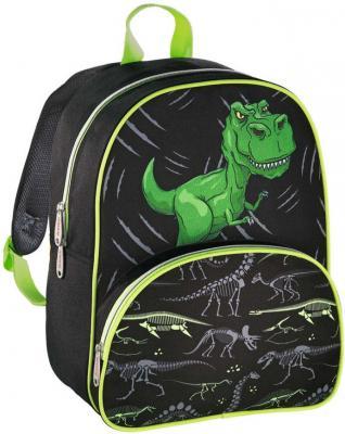 цена Дошкольный рюкзак HAMA Dino зеленый черный 00139099 онлайн в 2017 году