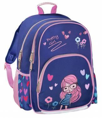 Рюкзак HAMA Pretty Girl 14 л синий розовый 00139090