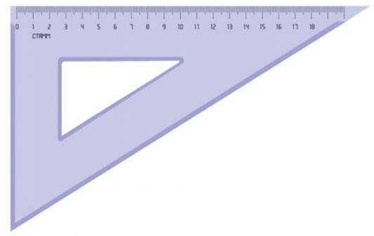 Треугольник СТАММ ТК49 18 см пластик треугольник 30 60 90 18 см centrum