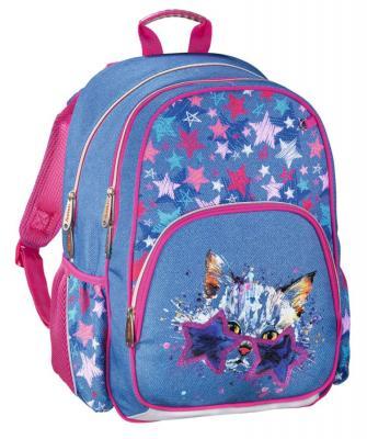 Рюкзак ручка для переноски HAMA Crazy Cat 14 л синий розовый