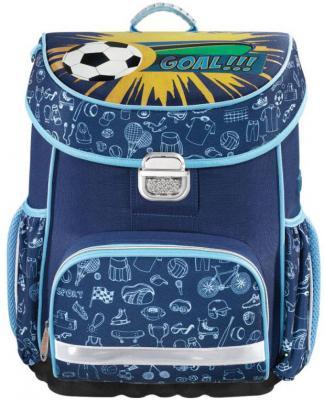Ранец ортопедический HAMA Soccer 18 л синий 00139069