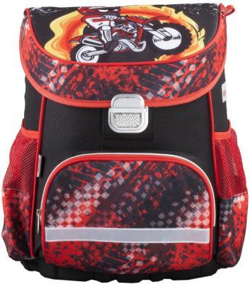 Ранец ортопедический HAMA Motorbike 18 л красный черный 00139073 цена и фото