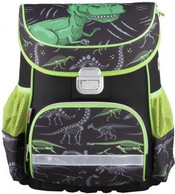 Ранец ортопедический HAMA Dino 18 л черный зеленый 00139074