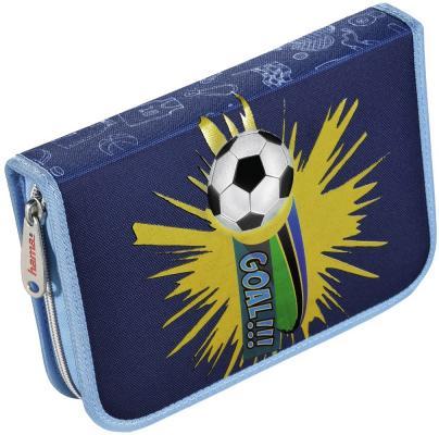 Пенал HAMA Soccer 139119 сумка для обуви hama soccer 00139107 синий голубой 33x40см 1 отдел б карм полиэстер