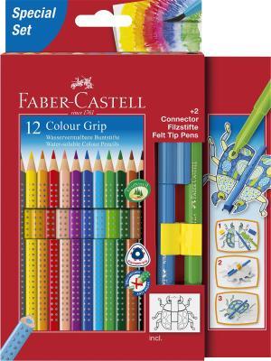 Набор цветных карандашей Faber-Castell 201396 12 шт 210 мм картонная коробка набор цветных карандашей maped color peps 12 шт 683212 в тубусе подставке
