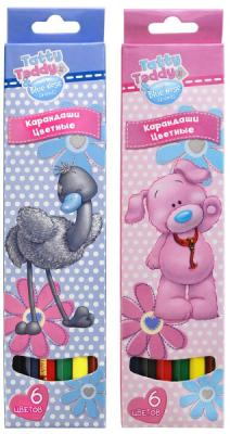 Набор цветных карандашей Action! Tatty Teddy and Blue Nose Friends 6 шт  ассортименте BNF-ACP105-