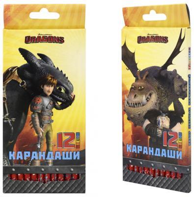 Набор цветных карандашей Action! Dragons 12 шт 2 дизайна набор карандашей цветных action discovery 18цв европодвес