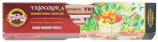 Набор цветных карандашей Koh-i-Noor Triocolor 6 шт 175 мм 8593539068686 набор цветных карандашей koh i noor triocolor 24 шт 17 5 см 3134 24