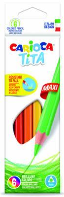 Набор цветных карандашей CARIOCA TITA MAXI 42788 6 шт