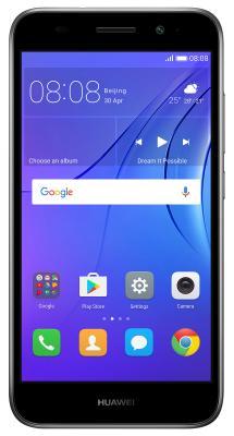 "Смартфон Huawei Y3 2017 серый 5"" 8 Гб Wi-Fi GPS 3G CRO-U00 51050NCW"