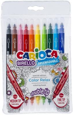 Набор фломастеров CARIOCA Birello 2.6 мм 10 шт разноцветный 41428 набор фломастеров universal carioca mini jumbo 6 шт разноцветный 40106 6